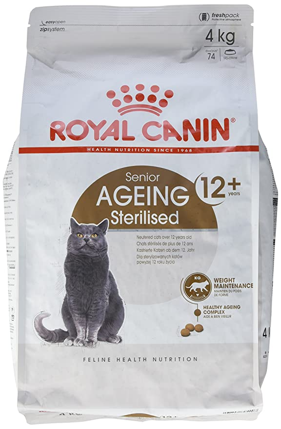 Royal Canin Comida para gatos Sterilised +12 4 Kg: Amazon.es: Productos para mascotas