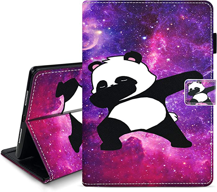 Hynina Case for iPad 10.2-Inch 2020/2019 Model 8th / 7th Generation Ultra-Thin Leather Smart Protective Cover with Pencil Holder for iPad 10.2 8th Gen 2020/iPad 10.2 7th Gen 2019-Galaxies Panda