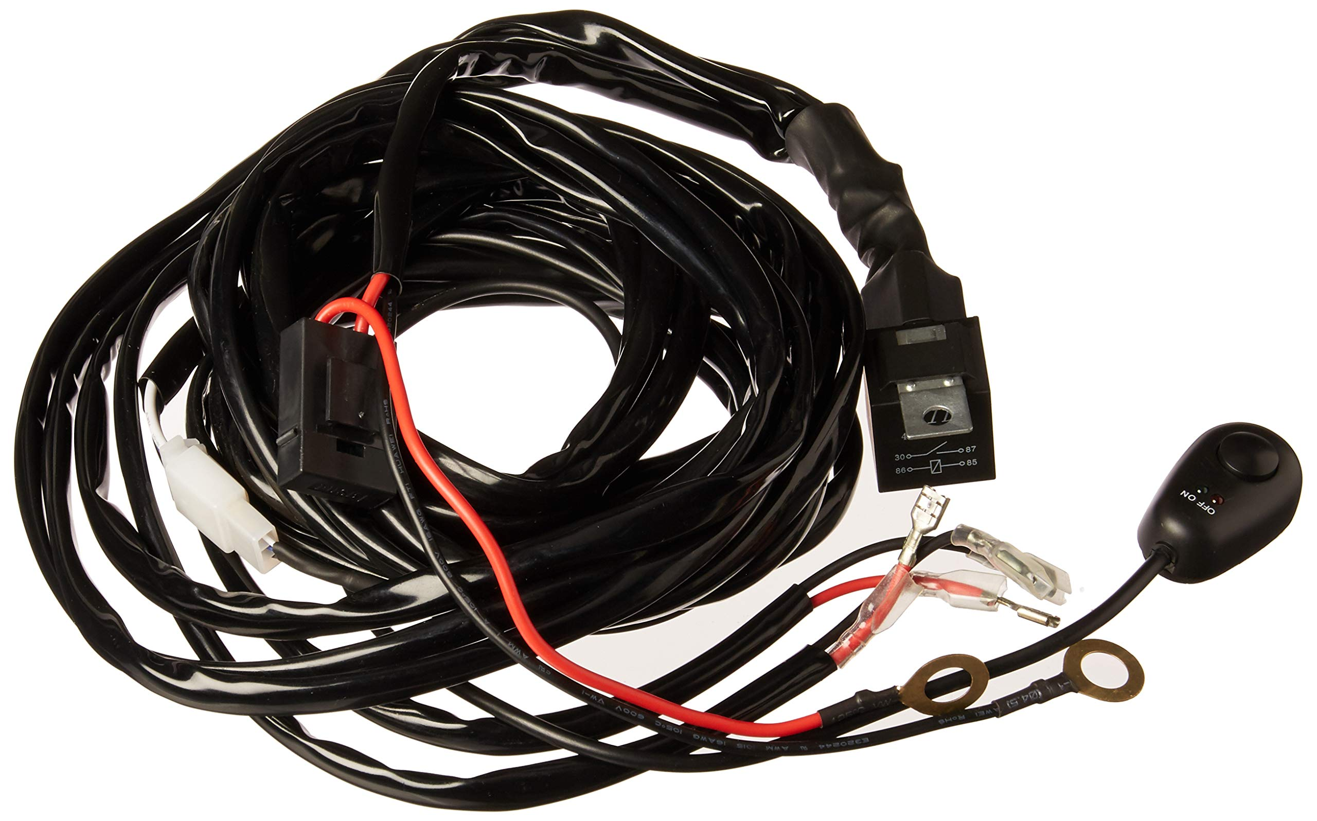 Nilight Off Road ATV//JEEP LED LightBar Wiring Harness//2 Leads//40AMP Relay//2Pack!