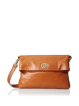 0f2bc51c0a5f Amazon.com  Tory Burch Dena Messenger Handbag (Luggage)  Shoes