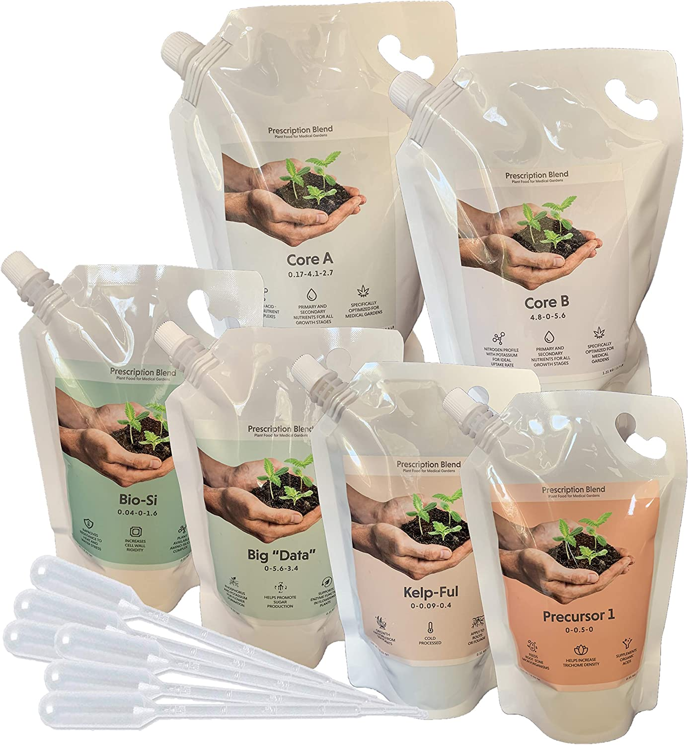 Prescription Blend - Complete Nutrient Kit - Optimized in Medical Gardens for use with Hydroponics, Coco and Soil