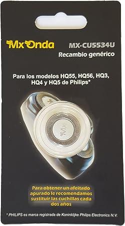 MX-ONDA CU5534U - Recambio para afeitadoras Philips, modelos HQ55 ...