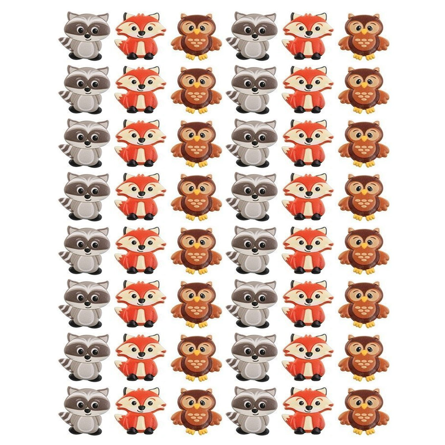 Woodland Animal Friends Cupcake Rings by Bakery Supplies (48-Pack) by DecoPac