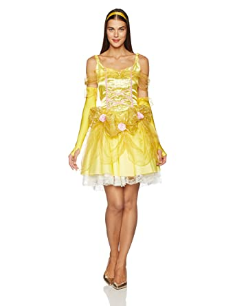 0183f34793a Amazon.com  Disguise Disney Beauty And The Beast Sassy Belle Costume   Clothing