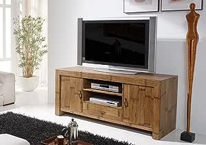 De madera de bambú de TV de madera TV de los muebles de madera de bambú de cama de la sala de estar de piedras de televisor de armario: Amazon.es: Hogar