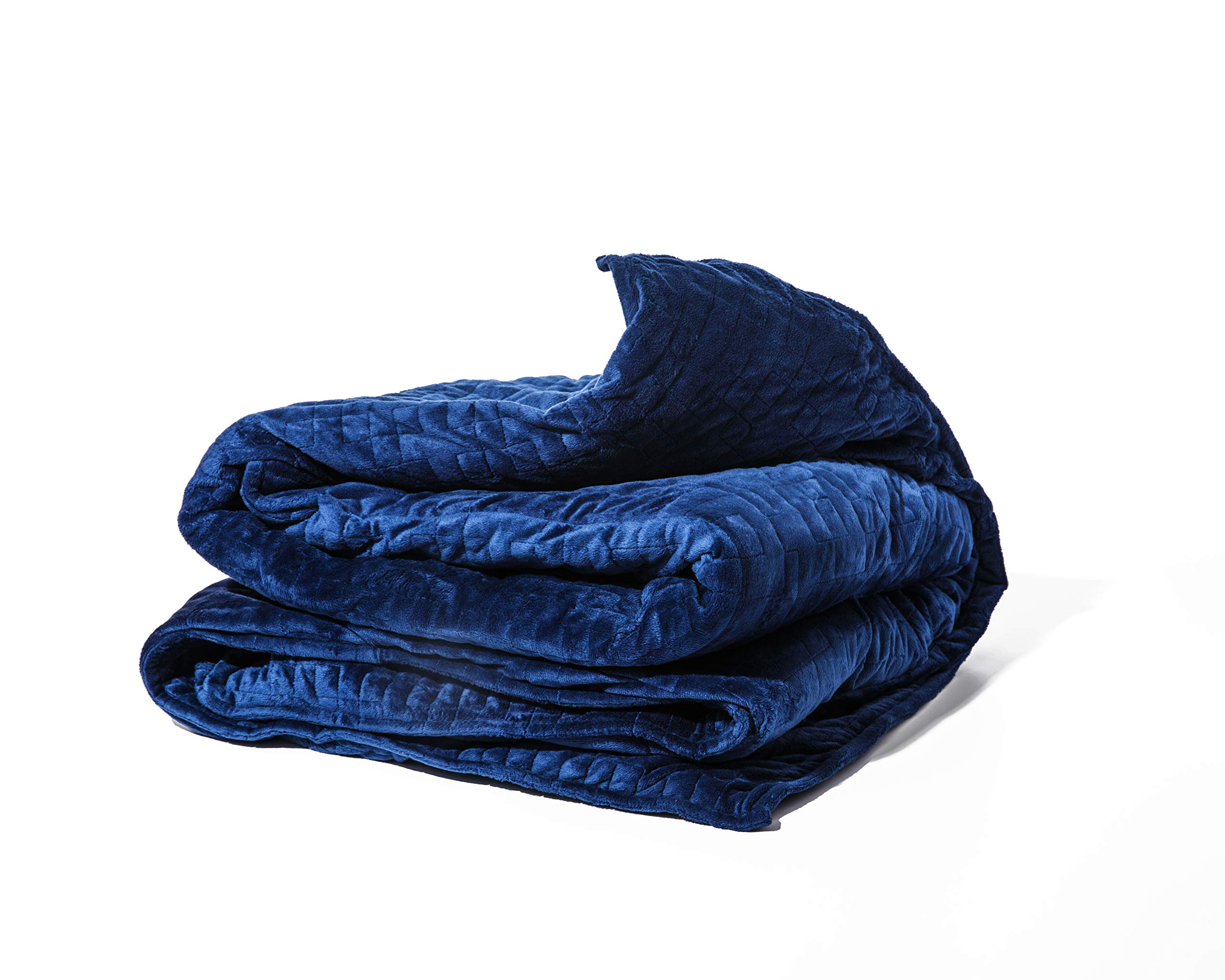 Gravity Blanket: The Weighted Blanket For Sleep, Stress and Anxiety, Navy 48'' x 72'' Size, 25-Pound
