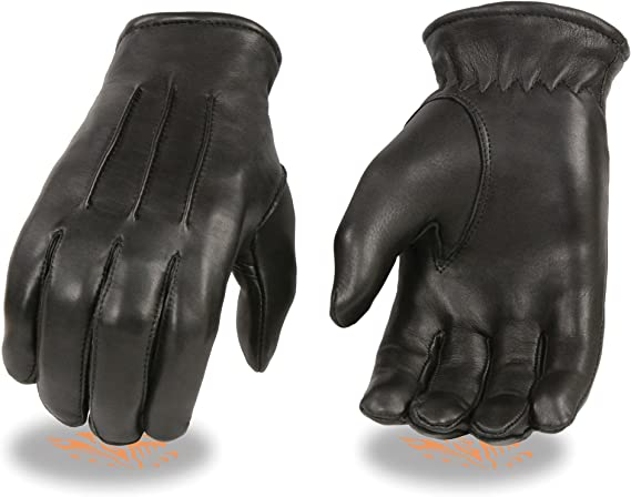 Milwaukee Leather Men's Welted Deerskin Thermal Lined Gloves (Black