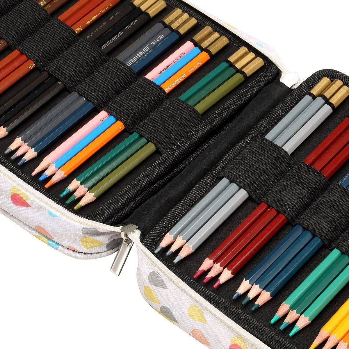 Nrpfell 150 Slots Colored Pencils Universal Pencil Bag Pen Case School Stationery PencilCase Drawing Painting Storage Pouch Pencil Box by Nrpfell (Image #6)