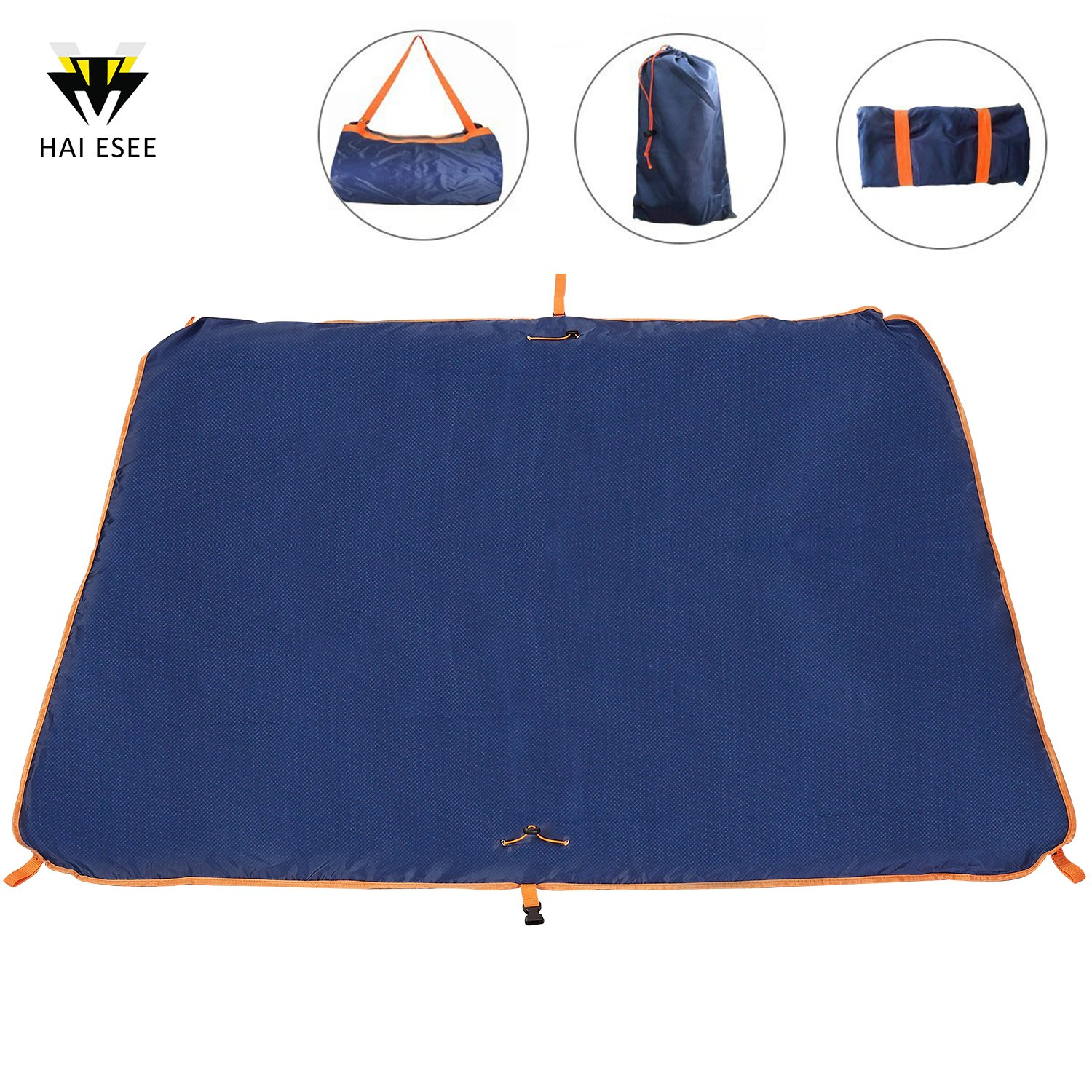 Haiesee Outdoor Waterproof Travel Bag, Mutifunctional Beach Blanket and Picnic Mat in One, Suitable for Mountaineering/Beach/Camping, Multi-Functional Folding Portable Picnic Blanket Package
