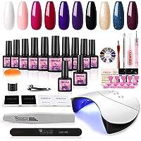 Coscelia UV Nagellak Gel Set 10 st UV Gel Vernissen Kleur Gel Nagel Set 36 W UV + LED Nagel Lamp Gel Vernis Starter Set…