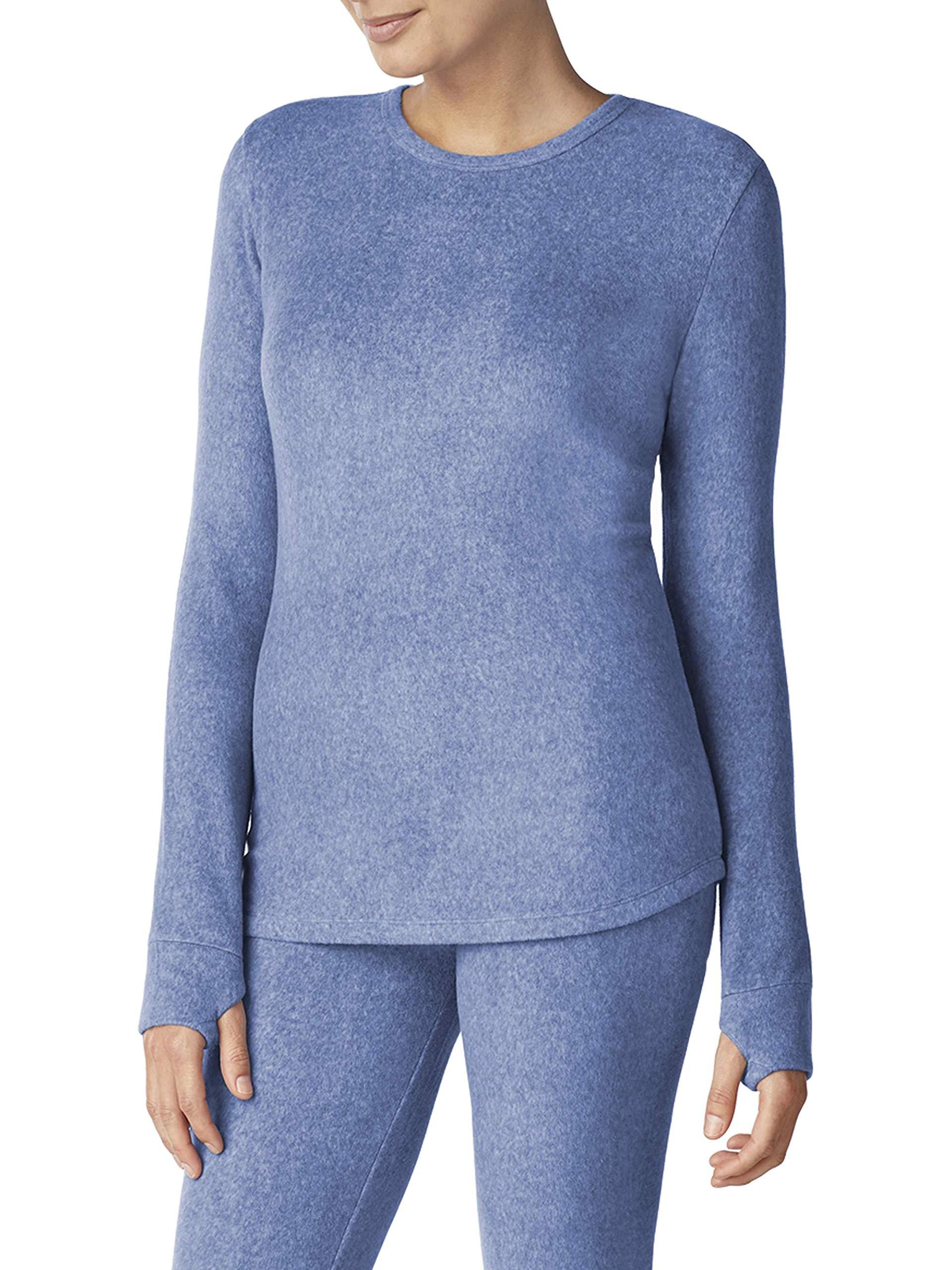Cuddl Duds ClimateRight Women's Stretch Fleece Warm Underwear Long Sleeve Top (M - Cloud Blue) by Cuddl Duds