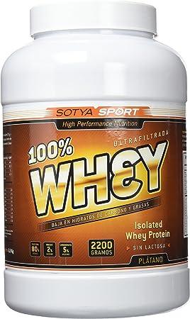 SOTYA Proteína Whey 100% Plátano con Yogurt 2.2 kg: Amazon.es ...
