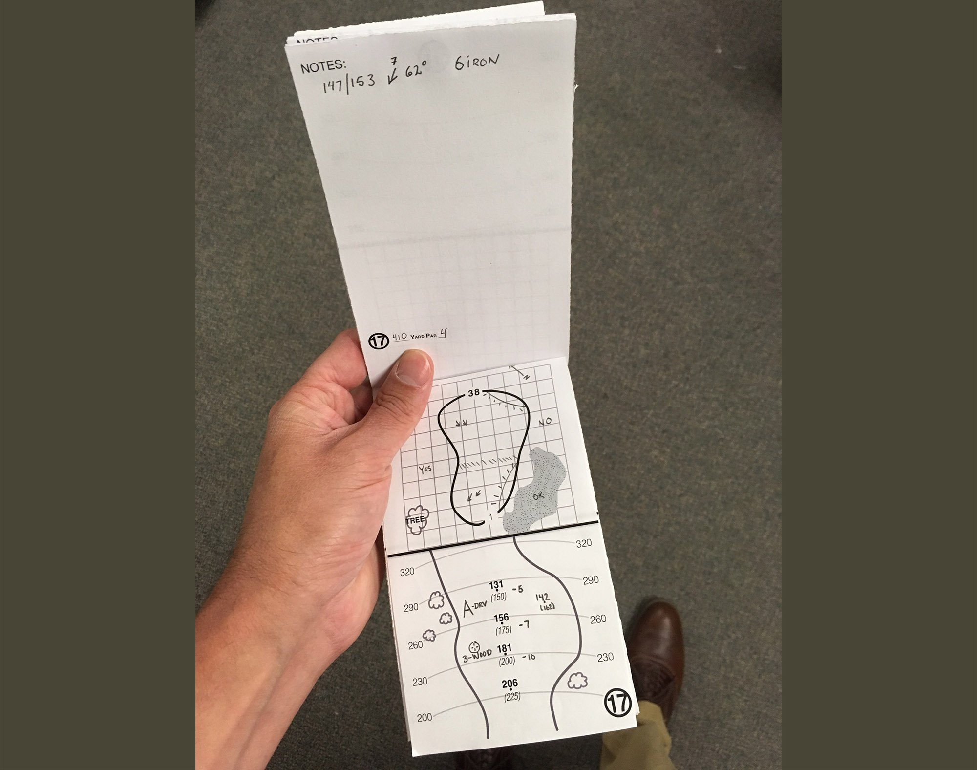 Golf Yardage Book (4 Pack) PGA Tour Template W/Stat Tracking Inserts ...