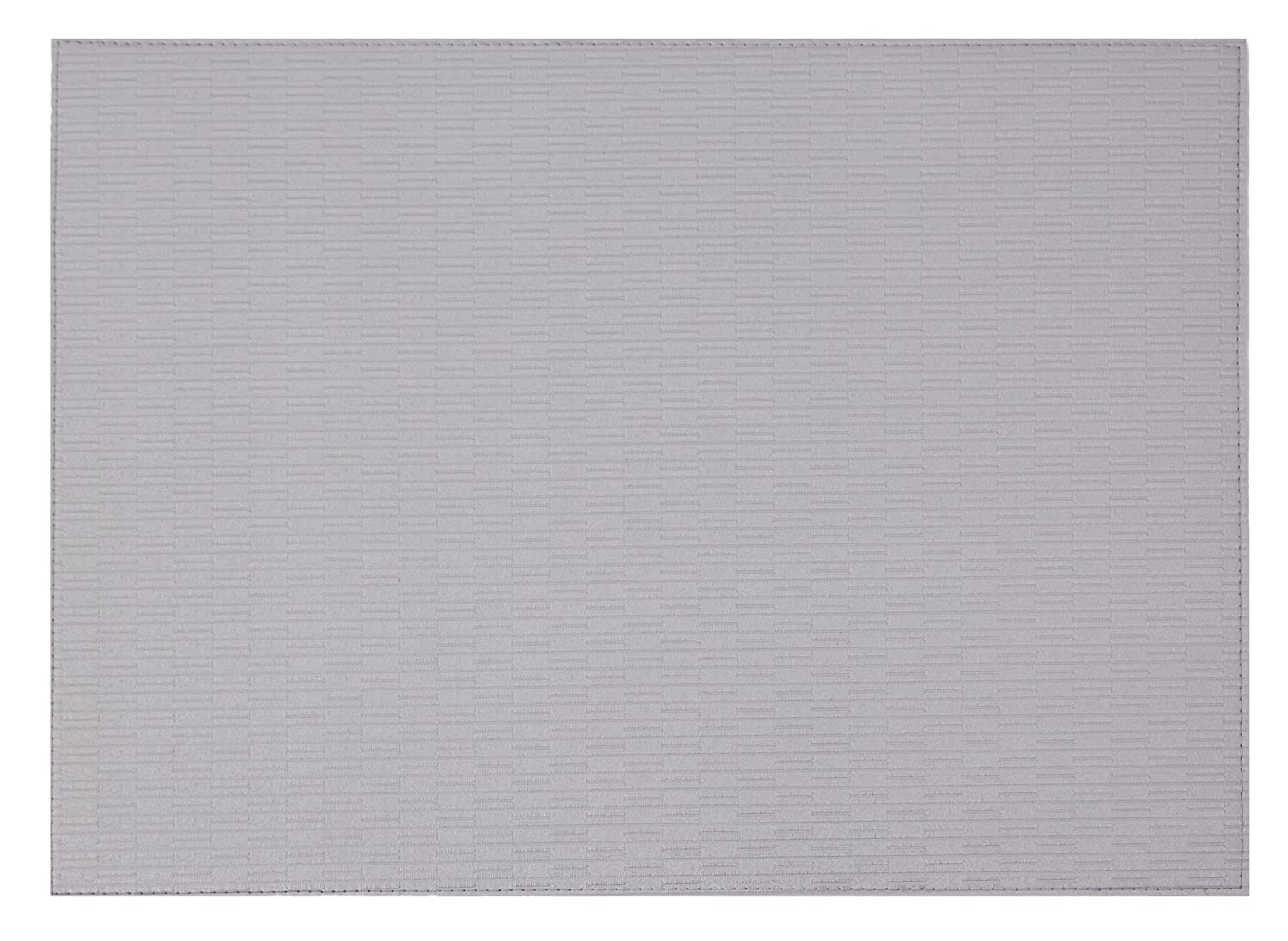 Set of 6 Blue Grey 13X18 Wintop Ribbed Faux Leather Placemats