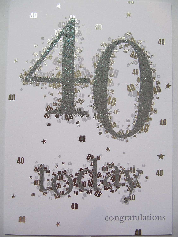Maravilloso Colorido 40 hoy Felicidades 40th cumpleaños ...