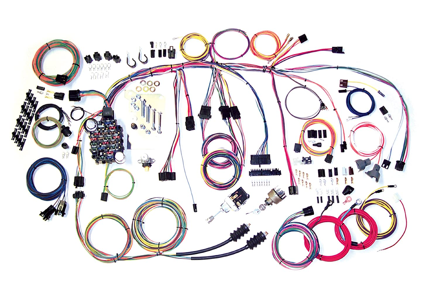 816T8GFu4LL._SL1500_ amazon com american autowire 500560 truck wiring harness for 60 65 chevy wiring harness at suagrazia.org