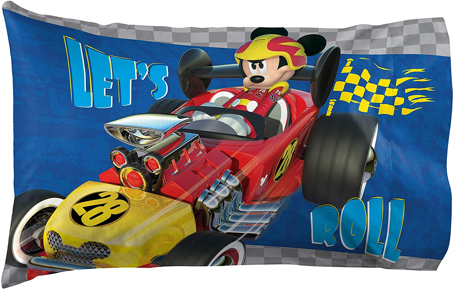 "Jay Franco Disney Junior Mickey Mouse and The Roadster Racers 20"" x 30"" Reversible Pillowcase"