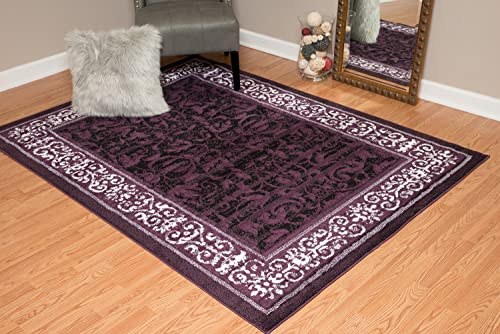 United Weavers of America Dallas Baroness Rug, 8 x 10 , Plum