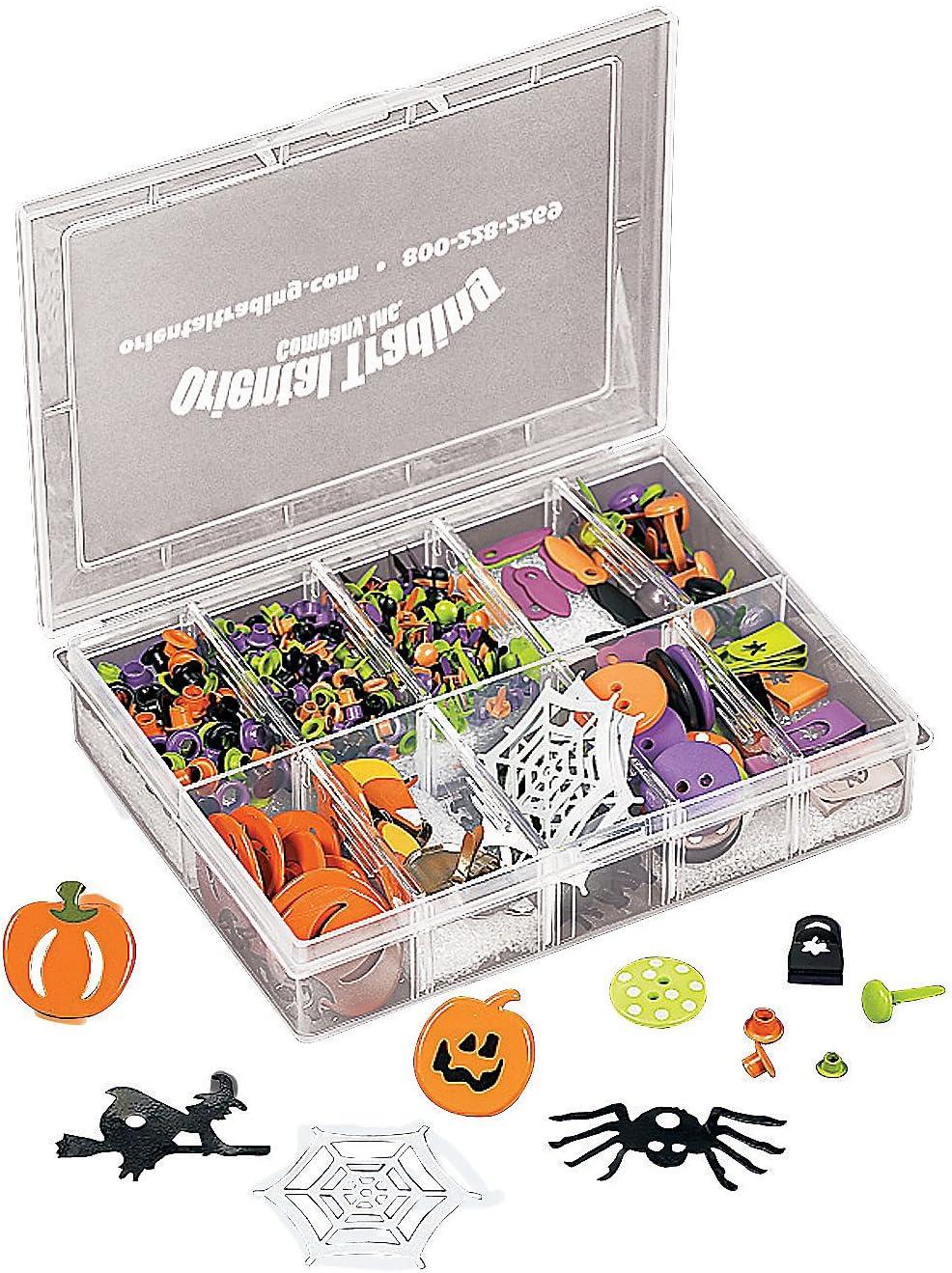 Halloween Misc Scrapbooking Embellishments Halloween Embellishment Box for Halloween 360 Pieces Craft Supplies Scrapbooking Embellishments Fun Express