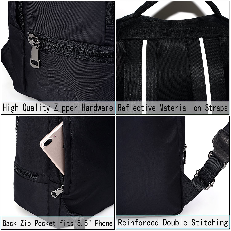 UTO Fashion Nylon Backpack Functional School Gym Sport Hiking Bag 3M Reflective Straps by UTO (Image #6)