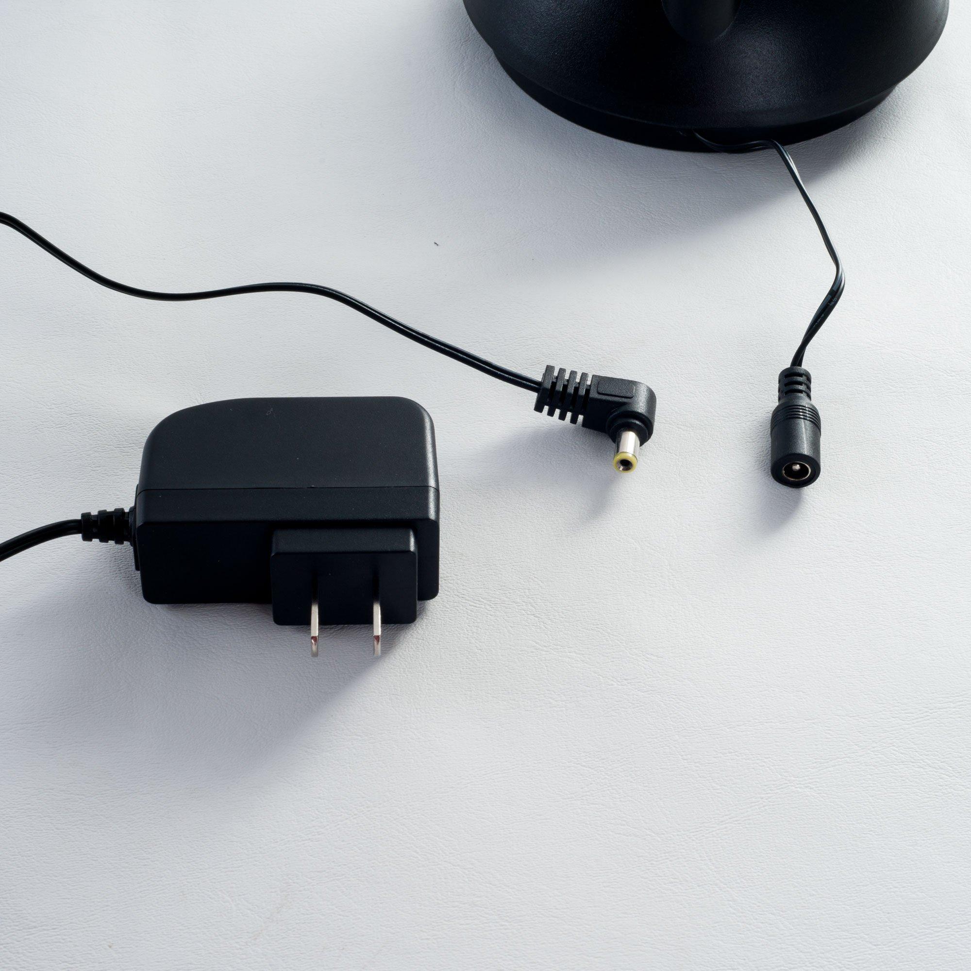 Lavish Home Adjustable LED Floor Lamp, Black (72'')