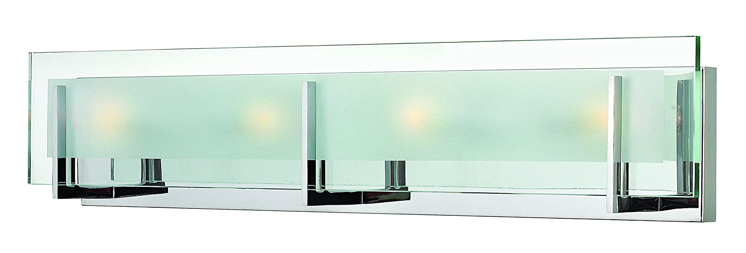 Hinkley 5654CM Contemporary Modern Four Light Bath from Latitude collection in Chrome, Pol. Nckl.finish,