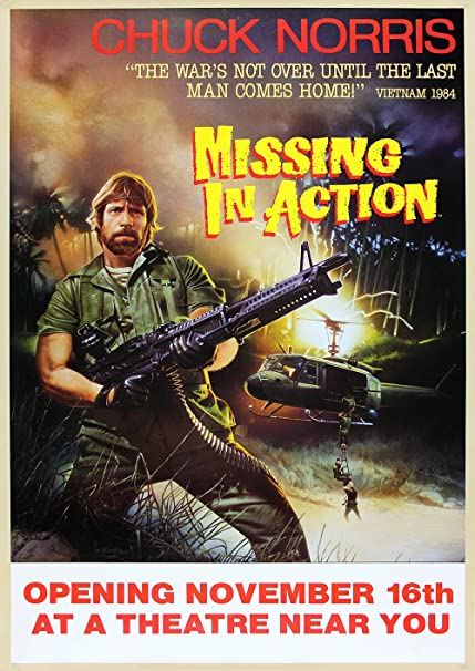 Nice Chuck Norris Missing In Action Poster A3 Film Movie Print
