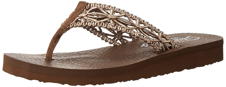 Amazon.com | Skechers Cali Women's Meditation-Ocean Breeze Flip Flop |  Sandals