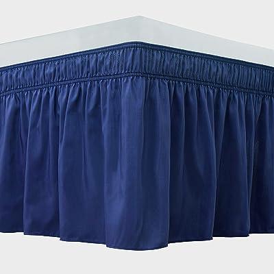 Luxury Pleated Satin 15-inch Drop Bedskirt
