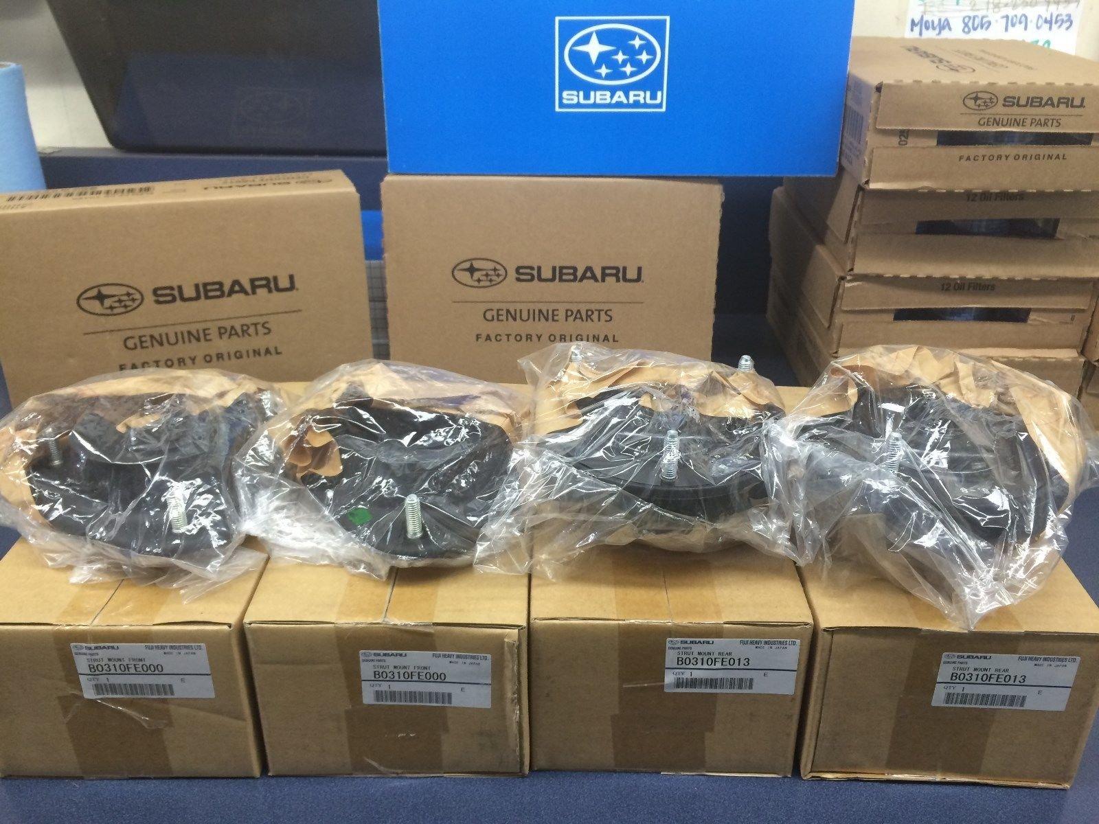 Genuine Subaru Group N Front & Rear Strut Mounts WRX Forester STi SET TURBO OEM 4 MOUNTS