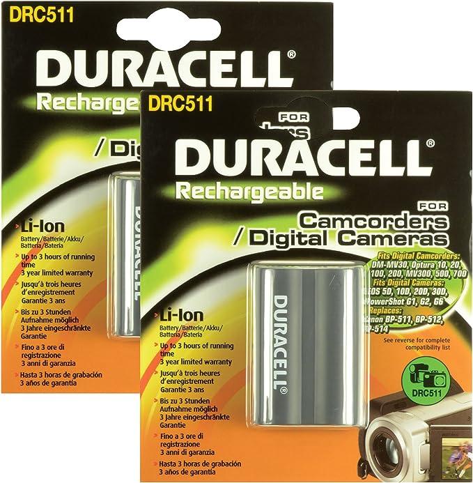 Duracell Ersatzakku Für Digitalkamera Ersetzt Canon Bp 511 2 Stück