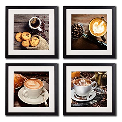 Amazon Com Coffee Framed Wall Art Decor Posters And Prints Modern