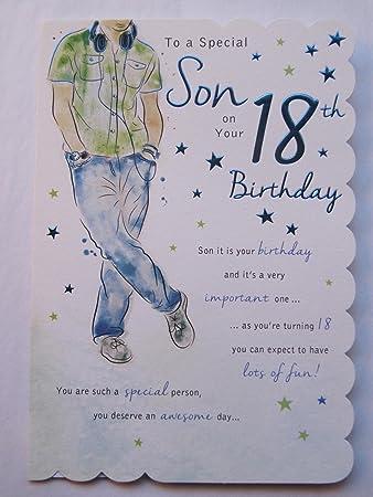 Stunning top range beautifully worded son eighteen 18th birthday stunning top range beautifully worded son eighteen 18th birthday greeting card bookmarktalkfo Choice Image