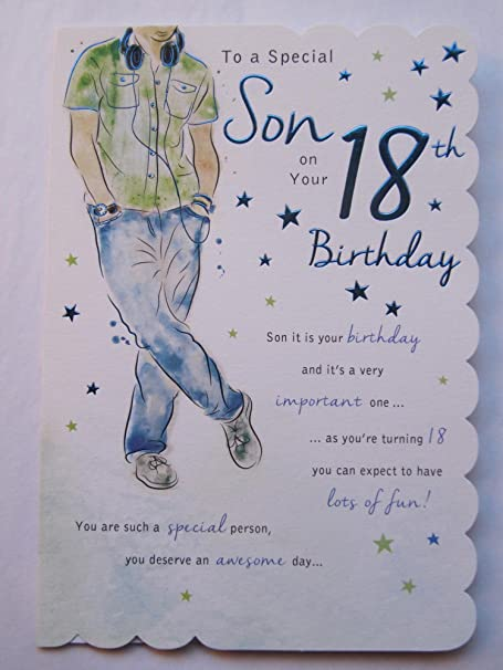 Stunning top range beautifully worded son eighteen 18th birthday stunning top range beautifully worded son eighteen 18th birthday greeting card m4hsunfo