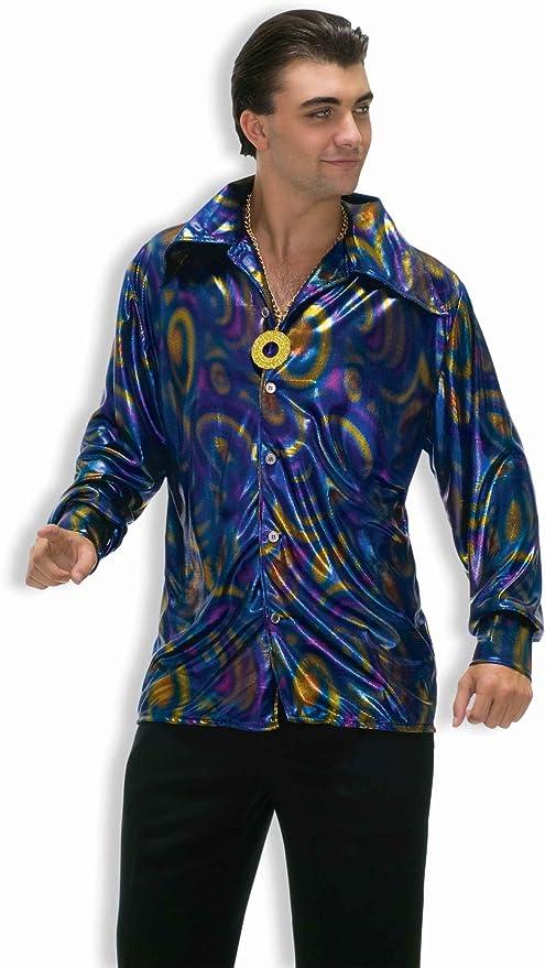 Mens Vintage Shirts – Casual, Dress, T-shirts, Polos Forum Novelties Mens 70s Disco Dynamite Dude Costume Shirt $46.00 AT vintagedancer.com