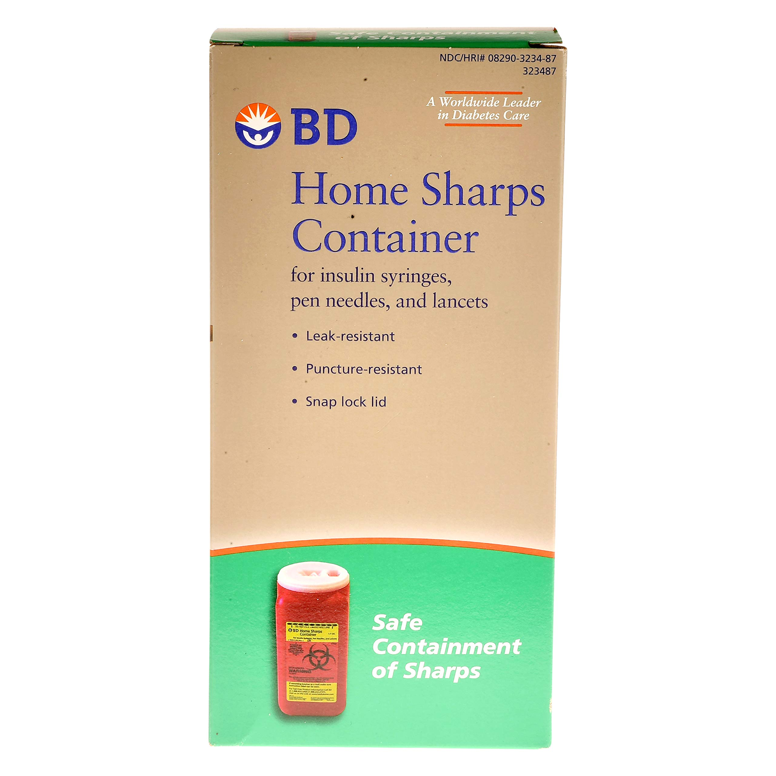 BD Home Sharps Container 1 Each (Pack of 6)