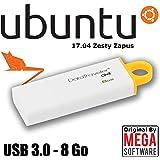 Ubuntu 17.04 Live - Desktop - 32 & 64 bits - Penna USB 3.0 - 8 Go