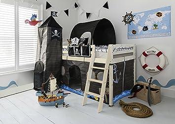 Etagenbett Tunnel Set : Hochbett mit rutsche midsleeper kids pirat hideaway zelt tunnel