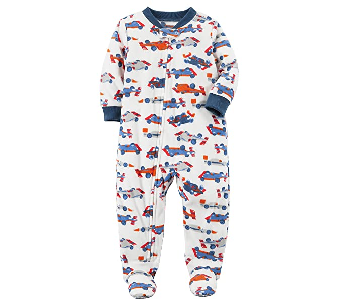 6d73881a51b7 Amazon.com  Carter s Baby Boys  12M-14 One Piece Racecar Fleece ...