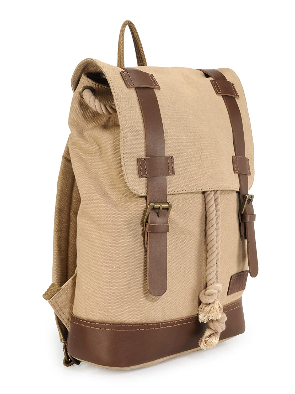 Phive Rivers Leather Backpack Khaki