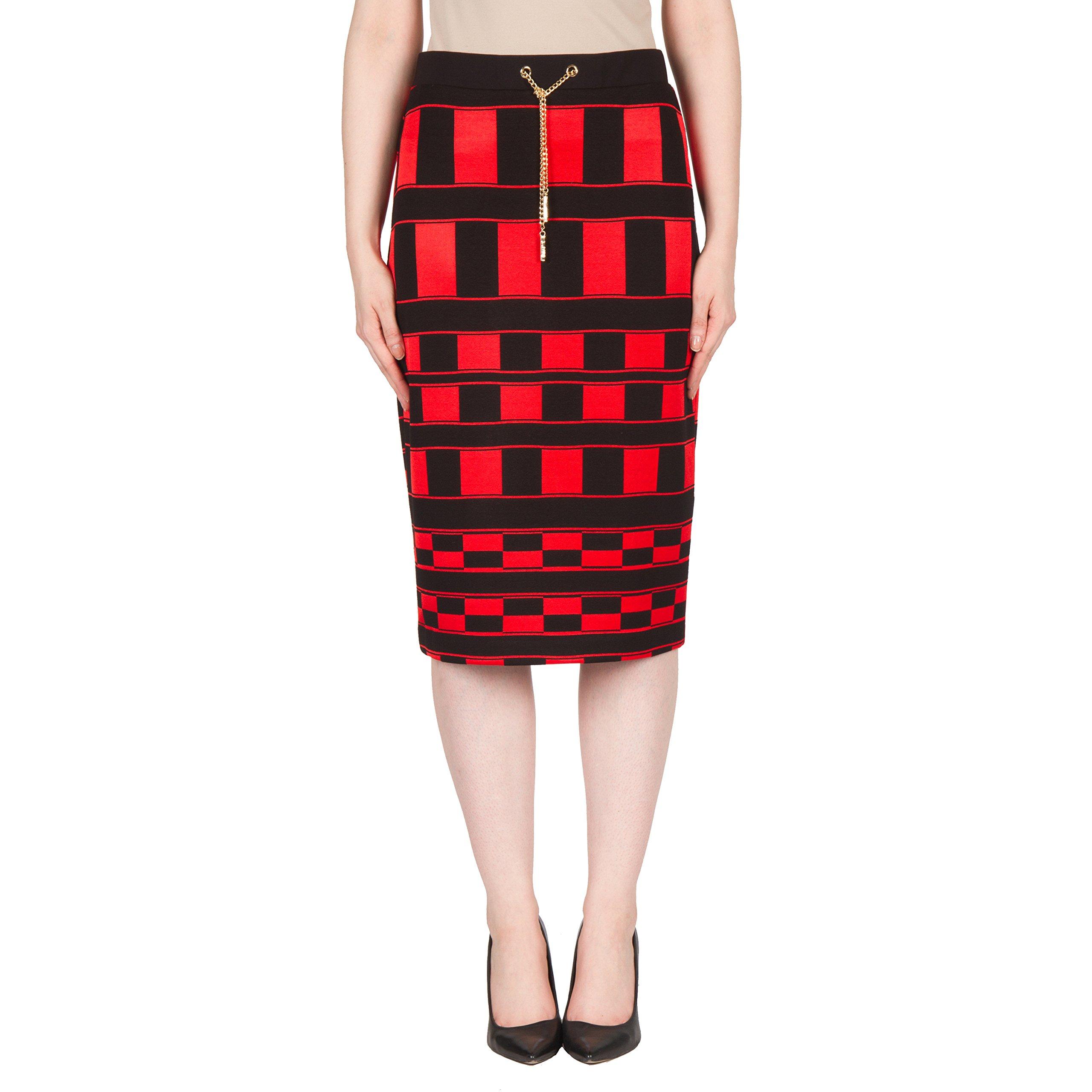 Joseph Ribkoff Jacquard Silky Knit Pencil Skirt Style 173782 - Size 8