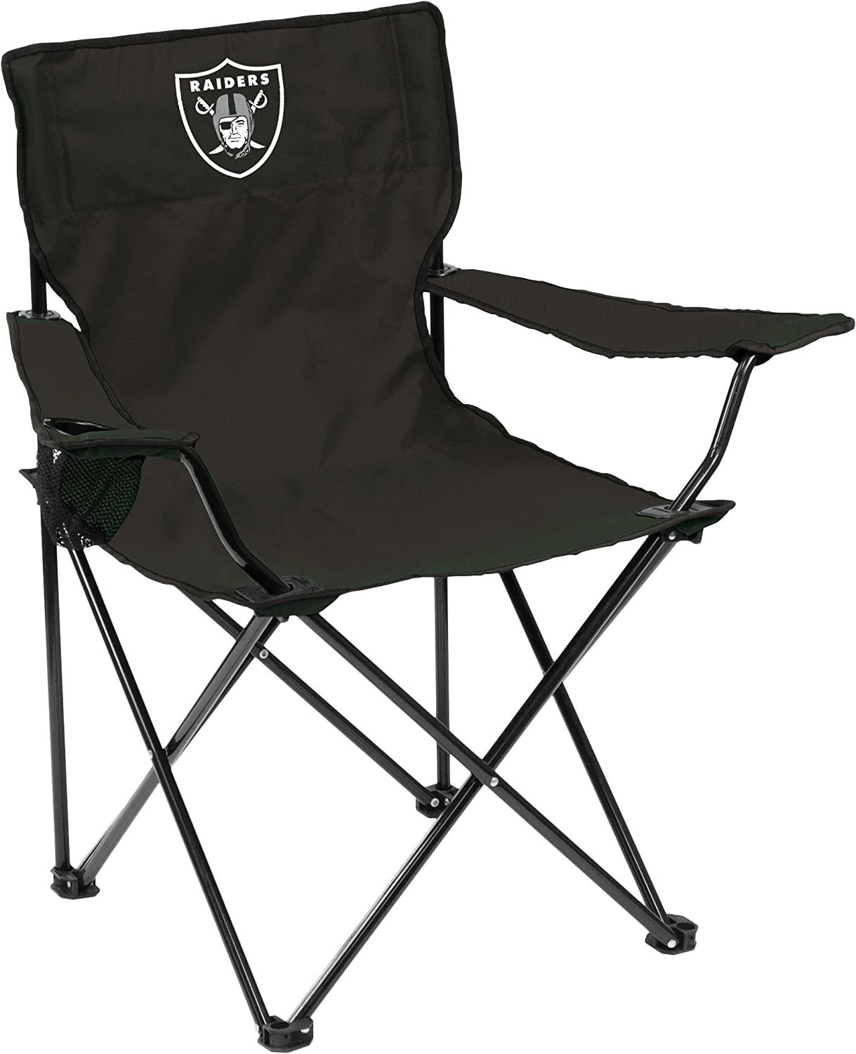 NFL Logo Brands Oakland Raiders Quad Chair, Team Color