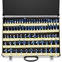 Neiko 10115A Premium Tungsten Carbide Router Bits | 80-Piece Set Aluminum Storage Case