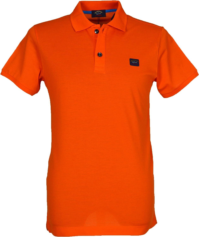 Paul & Shark - Polo para hombre, color naranja Naranja naranja M ...