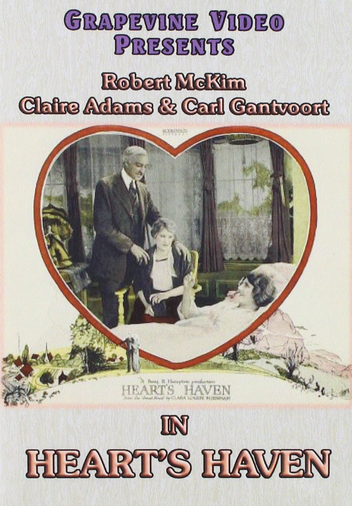 DVD : Hearts Haven (Black & White, Silent Movie)
