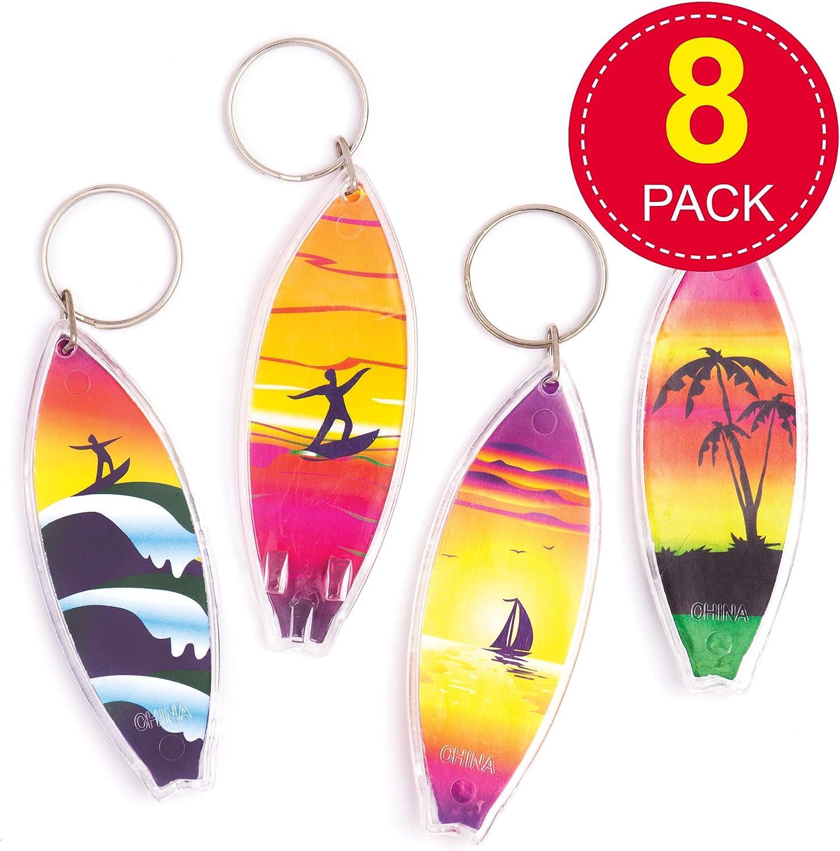 SU-Key-10 Surfboard Schlüsselanhänger Surfboard Keyring Holz surfen Schmuck