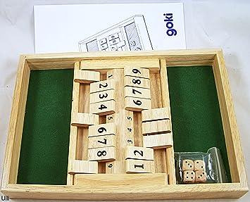 Goki- Shut The Box Juegos de Mesa para 2 Jugadores, (56897 ...