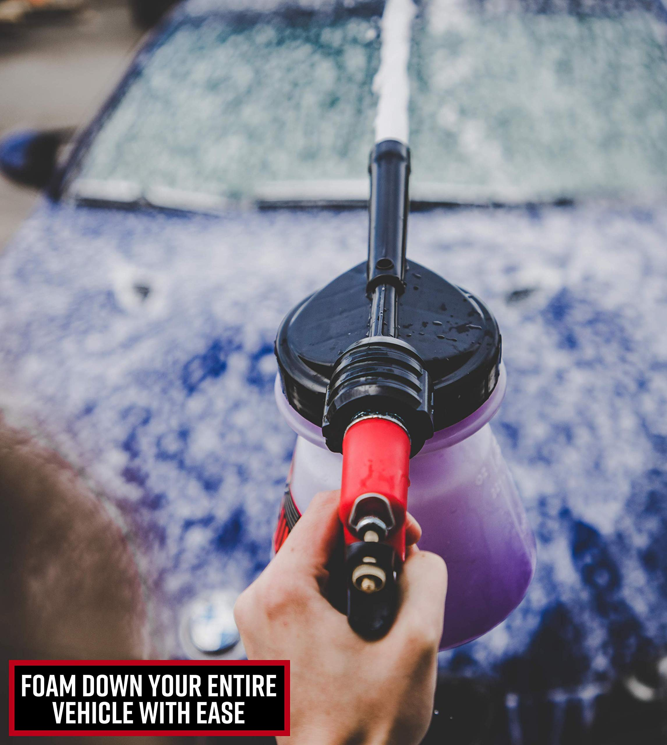 Adam's Foam Gun & Ultra Foam Gallon - Use with Any Car Wash Soap & Garden Hose for Thick Suds - Detailing Tool Does Not Require Pressure Washer & Won't Remove Wax Sealant by Adam's Polishes (Image #3)