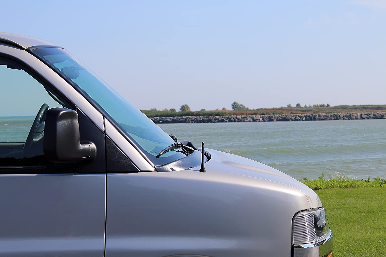 "FITS 1997-2006 Hyundai Tiburon **SHORT**  4/"" ALUMINUM BLUE ANTENNA MAST"