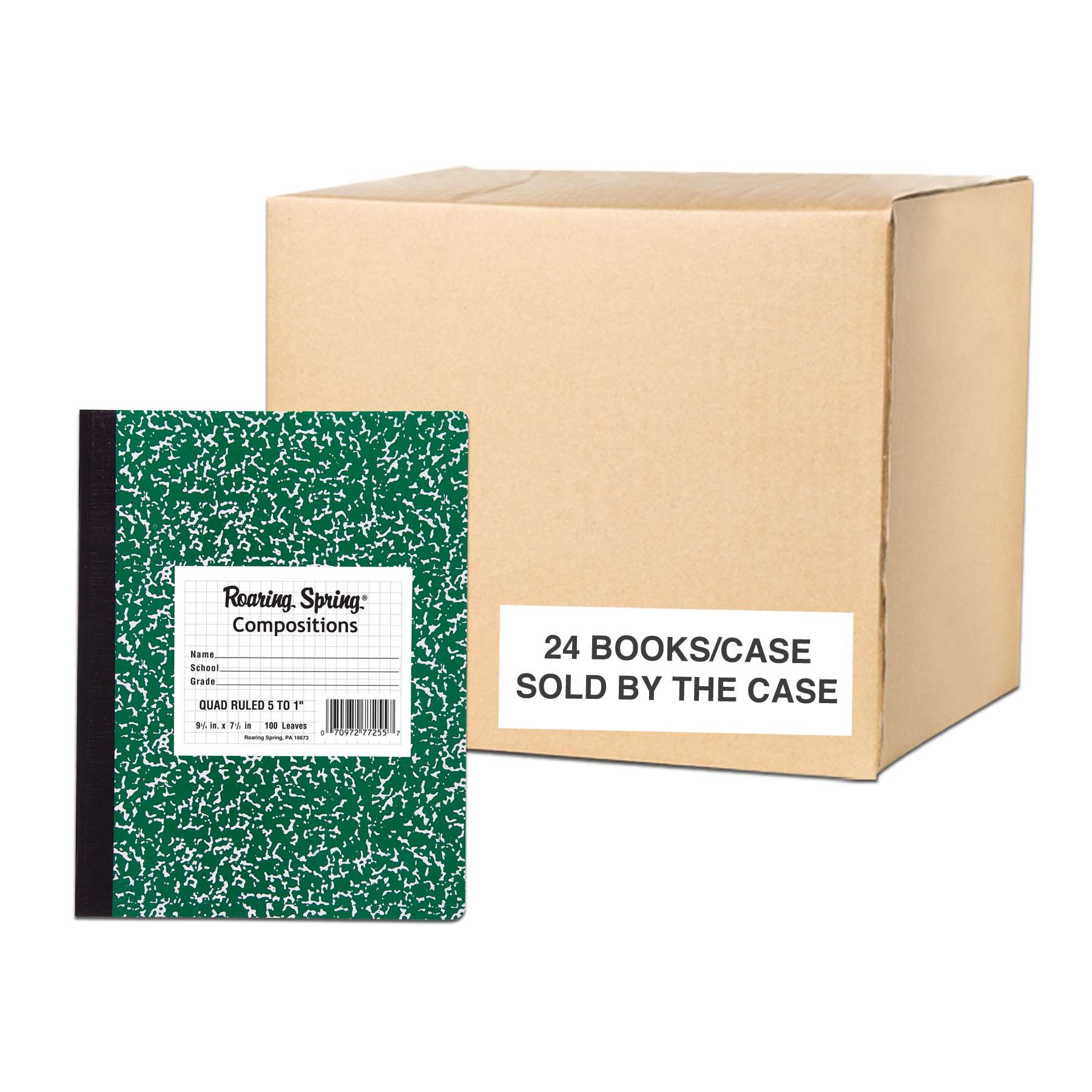 Roaring Spring Paper Products Center Sewn Composition Notebook, 7 1/2 x 9 3/4 x 1/2 (77255cs)